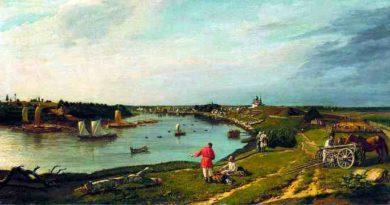 Вид Старой Ладоги 1833 холст, масло, 66х114см Заболотский Петр Ефимович (1803-1866)