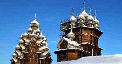 Деревянные церкви Руси Кижи Церковь Преображения Господня