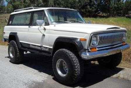 Из леса – прочь! Краткая история SUV. Jeep Cherokee Chief V8 1977. Морда как у Волги или наоборот!