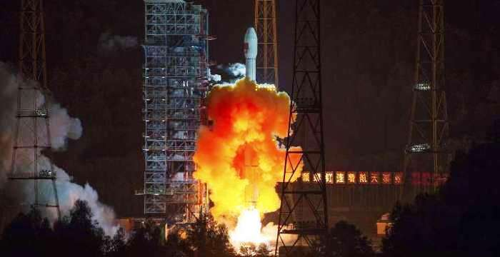 Китайский автобус Long March-3C с навигацией BDS, уже в космосе