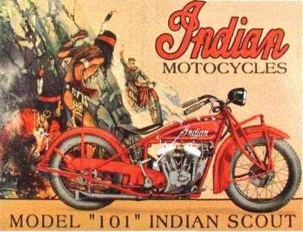 Легендарный Индеец - краткая история. Рекламный плакат.