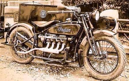 Легендарный Индеец - краткая история. Четырех цилиндровый двигатель