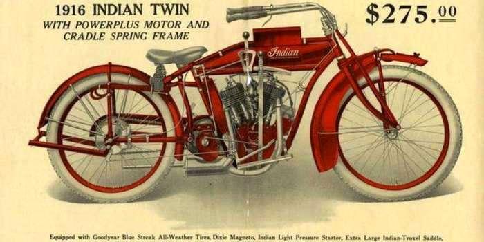 Легендарный Индеец - краткая история. 1916 цена мотоцикла 225 долларов