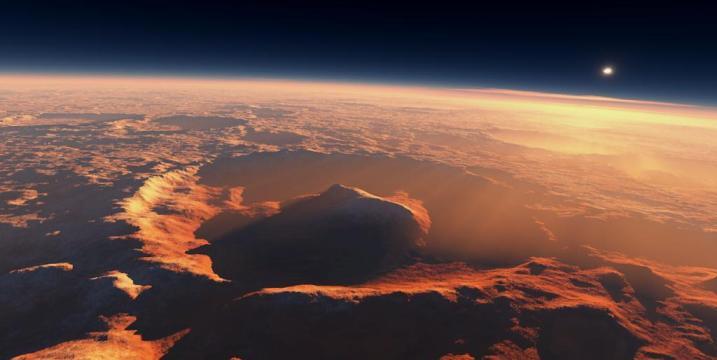 Об одном из непонятных явлений на Марсе