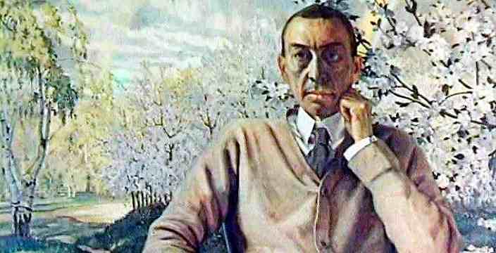 Рахманинов Сергей Васильевич 1973-1943 композитор, пианист, дирижер. Портрет кисти К.Сомова.