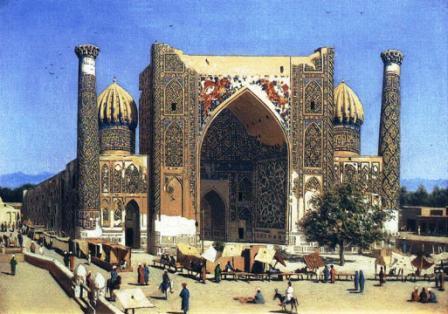Самарканд. Медресе Шир-дор на площади Регистан 1870 Верещагин Василий Васильевич 1842-1904