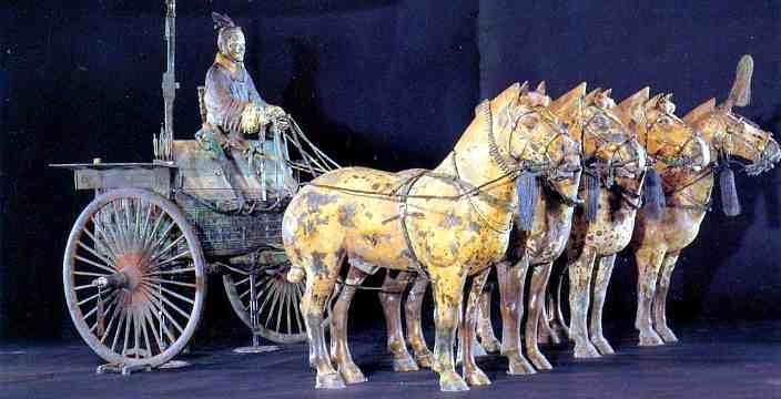 Терракотовая армия Императора Цинь Шихуан бронзовая колесница