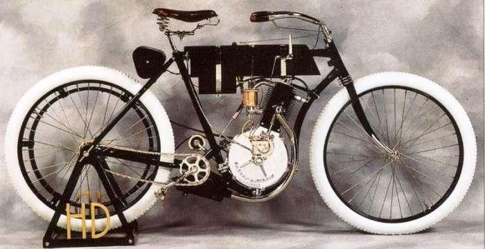 Харли-Девидсон, что правда, что миф. 1903 Harley-Davidson Right-Side