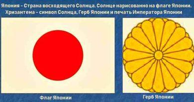 Хризантема - символ Солнца, Герб Японии и Императорская печать. Япония Страна восходящего Солнца - нарисованного на флаге