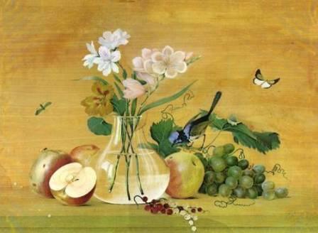 Сочинение на тему - картина Ф.П. Толстого Цветы, фрукты, птица Вася Кузнецов 4 класс 1948