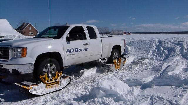 TrackNGo – гусеничная система превращает любой грузовик 4х4 или внедорожник в снегоход за несколько минут.