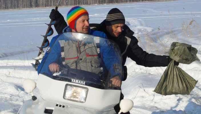 Лица. Peter_45 и Sash рыбки подвезли МотоКарельские выходные. День третий. 16 февраля 2013 г. Дима.К.
