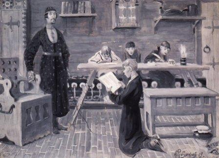 Школа 17 век Художник Рябушкин Андрей Петрович 1903